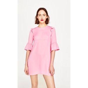 Zara | Pink Frill Dress